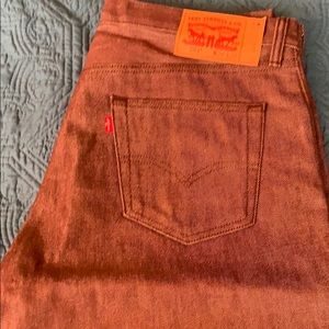 Levi 501 button fly straight leg jeans